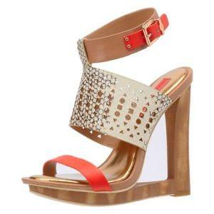 BCBG Meteur Wedge Sandals